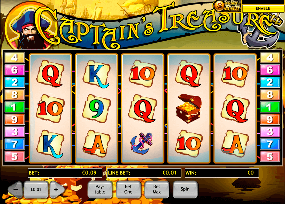 Palace casino Captains Treasure 63854